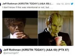《惊奇队长》有《低俗小说》彩蛋 外星人喝饮料动作致敬朱尔‧温菲德